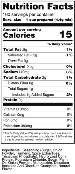 bernard low sodium chicken stock soup mix nutritional facts