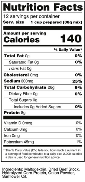 bernard high protein chicken broth nutrition facts