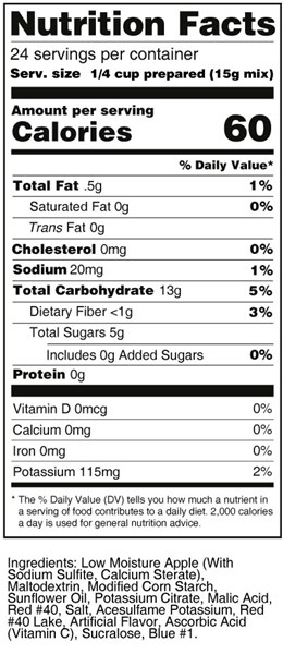 calorie control cherry fruit treat nutrition facts