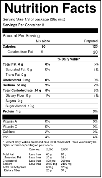 Classic-Blondie-Brownie-Mix-Nutrition-facts